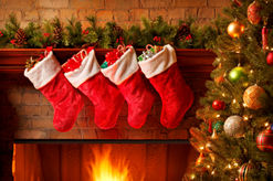 christmas stockings on Christmas Day