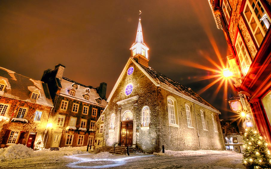 Ottawa Church at Christmas where Christmas Day was sung